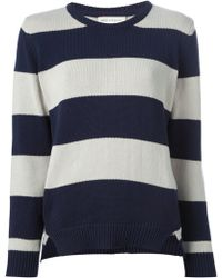 Chinti And Parker Striped Sweatshirt - Lyst