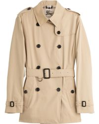 Burberry London Baronscourt Cotton Trench - Lyst