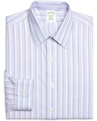 Brooks Brothers Noniron Extraslim Fit Alternating Hairline Stripe Dress Shirt - Lyst