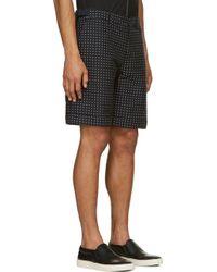 Alexander McQueen Navy Polka Dot Jacquard Shorts - Lyst