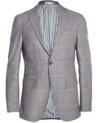 Michael Bastian Slim-Fit Prince Of Wales Check Wool Blazer - Lyst