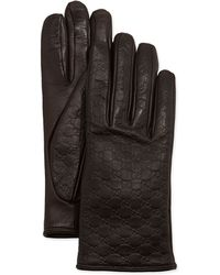Gucci Napa Logo Driving Gloves - Lyst