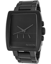 Nixon Mens Axis Chronograph Black Ip Steel and Dial - Lyst