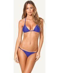 ViX | Solid Blue Paula Top | Lyst