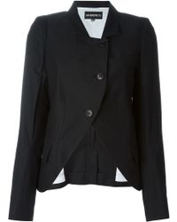 Ann Demeulemeester Blanche - Structured Cotton and Wool-Blend Jacket - Lyst