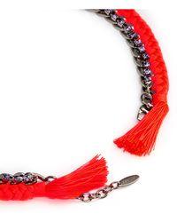 Joomi Lim - 'rebel Romance' Cotton Braid Crystal Chain Necklace - Lyst