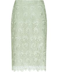 Reiss Orta Lace Pencil Skirt - Lyst
