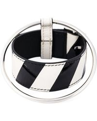 Raf Simons | Leather And Metal Bracelet | Lyst