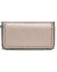 Stella McCartney | Redwood Falabella Chamois Flap Wallet | Lyst
