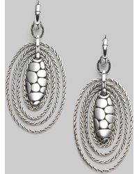 John Hardy | Sterling Silver Oval Drop Earrings | Lyst