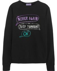 Lulu & Co - Never Again Sequined Cotton Sweatshirt - Lyst