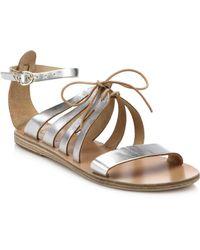 Ancient Greek Sandals Iphigenia Metallic Leather Sandals - Lyst