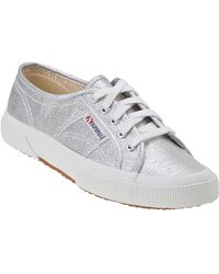 Superga 2750 Sneaker Silver Canvas - Lyst