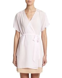 In Bloom Lace Inset Chiffon Wrap - Lyst