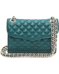 Rebecca Minkoff Quilted Mini Affair Bag Petrol - Lyst