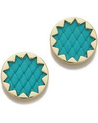 House of Harlow 1960 - Sunburst Button Earrings Nude - Lyst