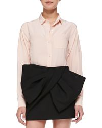 Marc By Marc Jacobs Sandwashed Crepe De Chine Blouse - Lyst