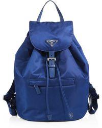 Prada Vela Backpack - Lyst
