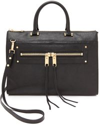 Milly Riley Large Tote  Black - Lyst