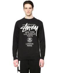 Stussy World Tour Cotton Blend Sweatshirt - Lyst