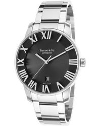 Tiffany & Co. - Men'S Atlas Dome Automatic Stainless Steel Black Dial - Lyst