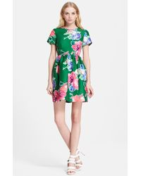 Kate Spade 'Stelli' Floral Print Fit & Flare Dress - Lyst