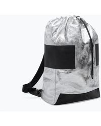 Zara Silver Leather Backpack - Lyst