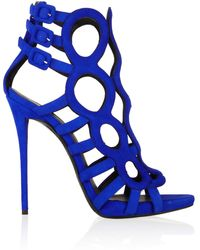Giuseppe Zanotti Coline Cutout Suede Sandals - Lyst