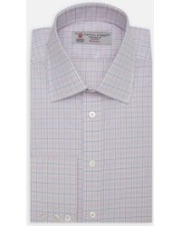 Turnbull & Asser | Exclusive Pink And Blue Check Cotton Shirt With Classic T&a Collar | Lyst