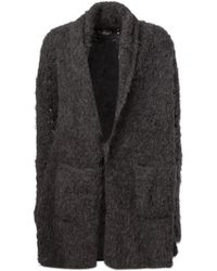 Lost & Found - Single-Breasted Alpaca Wool Cardi-Coat - Lyst