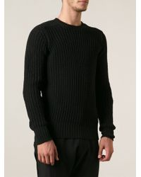 Rick Owens Ribbed Sweater - Lyst