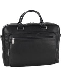 Kenneth Cole Reaction - Port Of History Leather Computer Case0125-529465 - Lyst