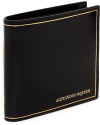 Alexander McQueen Gold Stamped Fold Wallet - Lyst