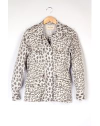 Velvet By Graham & Spencer Aziya Leopard Army Jacket - Lyst