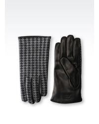 Armani - Glove In Napa Leather And Wool - Lyst