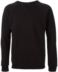 Saint Laurent Crew Neck Sweater black - Lyst
