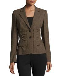 ESCADA Two-Button Wool-Blend Jacket - Lyst