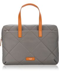 Knomo - Paddington Talbot Slim Laptop Briefcase Grey - Lyst