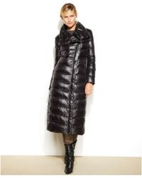 Calvin Klein Asymmetrical Maxi Down Puffer Coat - Lyst
