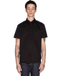 Naked & Famous Slim Shirt Ss Oxford - Lyst