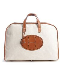 Hermès Preowned Bariena Travel Bag white - Lyst