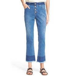 See By Chloé - Stoned Denim Crop Jeans - Lyst