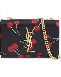Saint Laurent Cherry Leather Clutch Bag - For Women - Lyst
