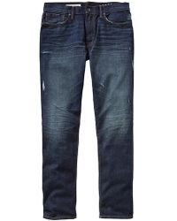 Gap Standard Taper Fit Jeans Dark Indigo Destructed Wash - Lyst
