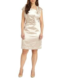 Kay Unger, Sizes 14-24 Textured Satin Dress - Lyst