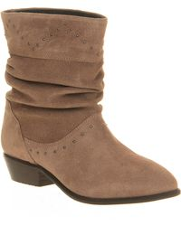 Office Cassie Studded Ruched Boot - Lyst