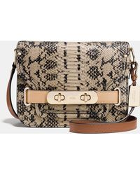 COACH | Small Swagger Shoulder Bag In Colorblock Exotic Embossed Leather | Lyst