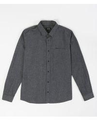 A.P.C. Emile Shirt gray - Lyst