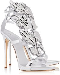 Giuseppe Zanotti Embellished Patent-leather Sandals - Lyst