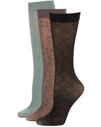 Ellen Tracy - 3-Pack Sheer Trouser Socks - Lyst